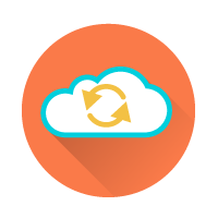 cloud wine data icon