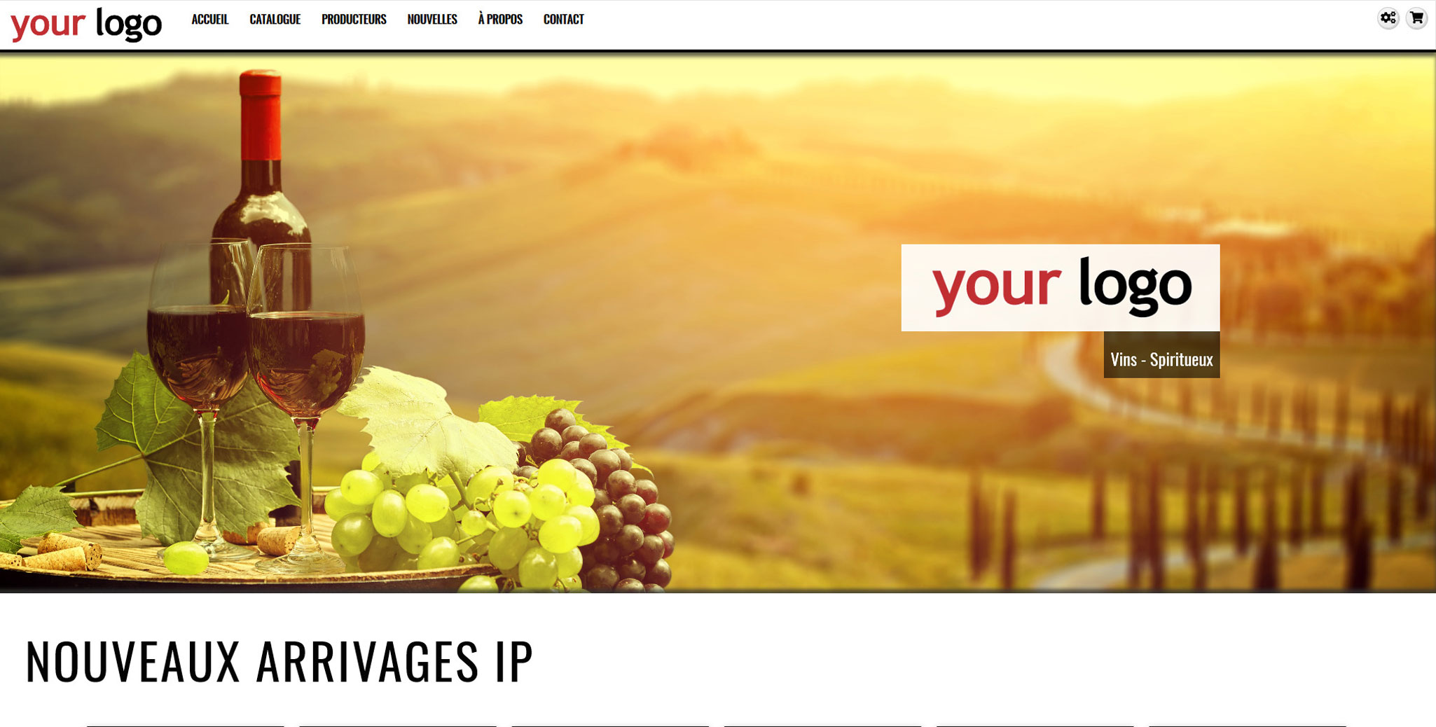 wine web templates