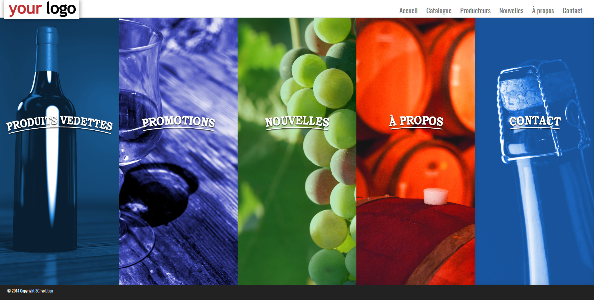 wine web development